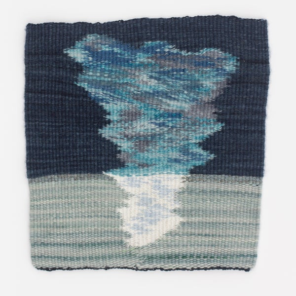 Image of Sky on the ice handwoven tapestry weaving