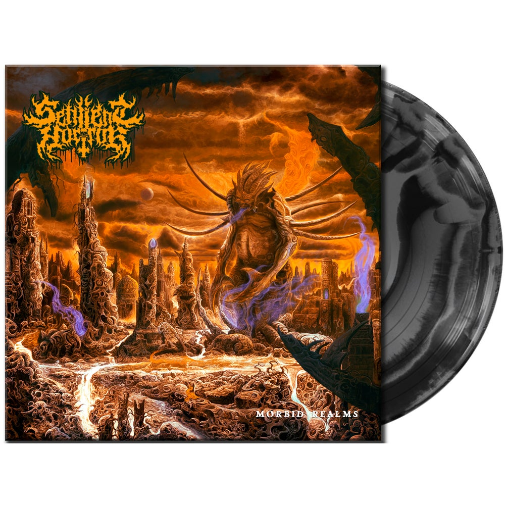 Image of Sentient Horror • Morbid Realms (Gray / Black Swirl Vinyl)