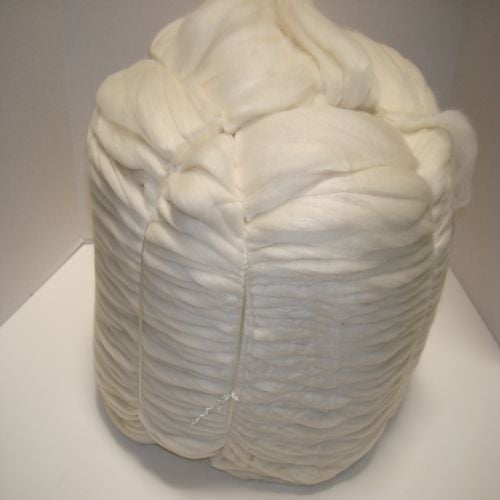 Image of Cheviot Wool Top Roving - Undyed Natural Spinning Fiber - 1 LB