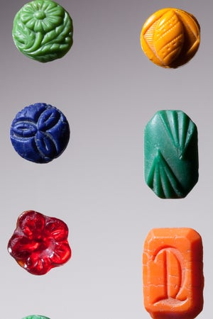 Image of Art Deco Glass Buttons, c. 1920s-1940s