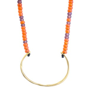 Image of Gold-plated silver and glass bead Lulu necklace