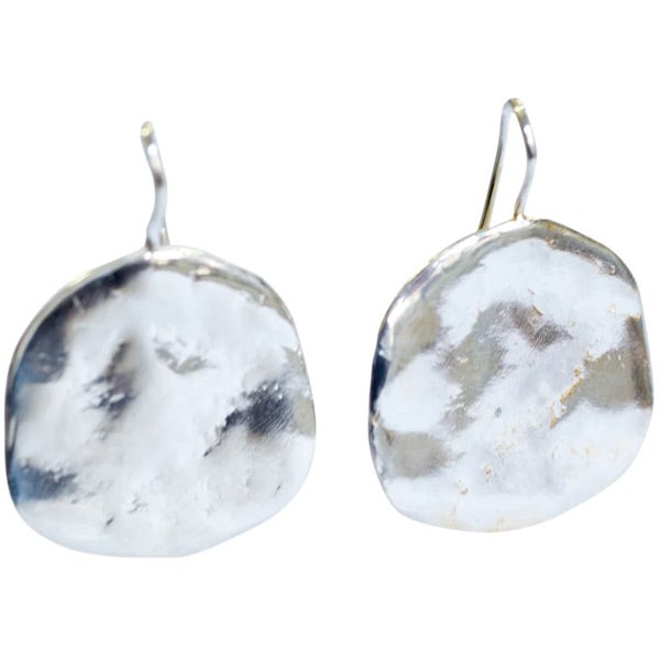 Image of Ibiza silver disc earrings