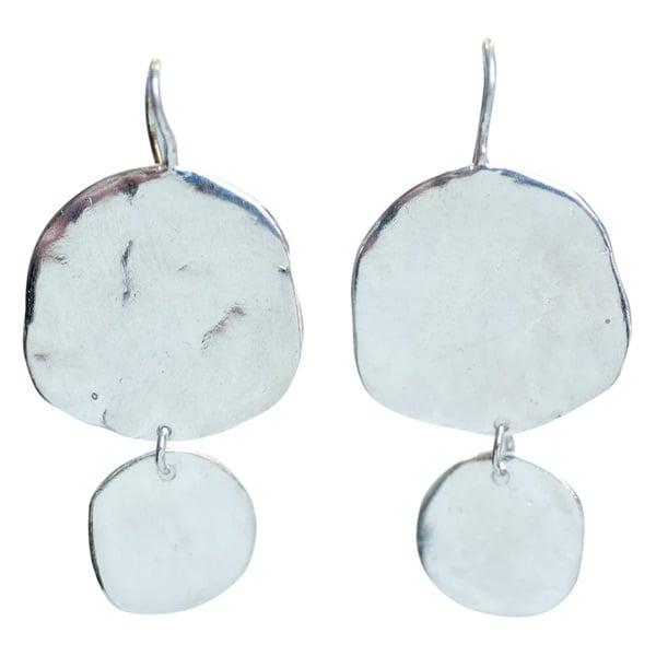 Image of Ibiza large double disc earrings
