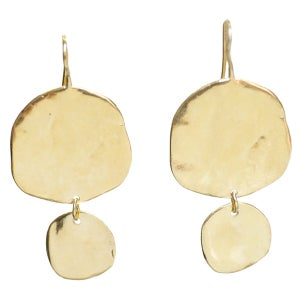 Image of Ibiza large double disc earrings