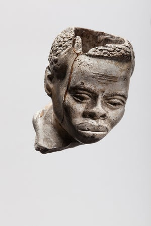 Image of Clay Pipe Bowl, Slave Head, c. mid-19th century