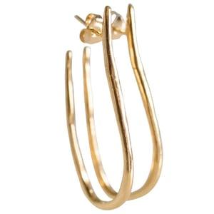 Image of Elegant long hoops