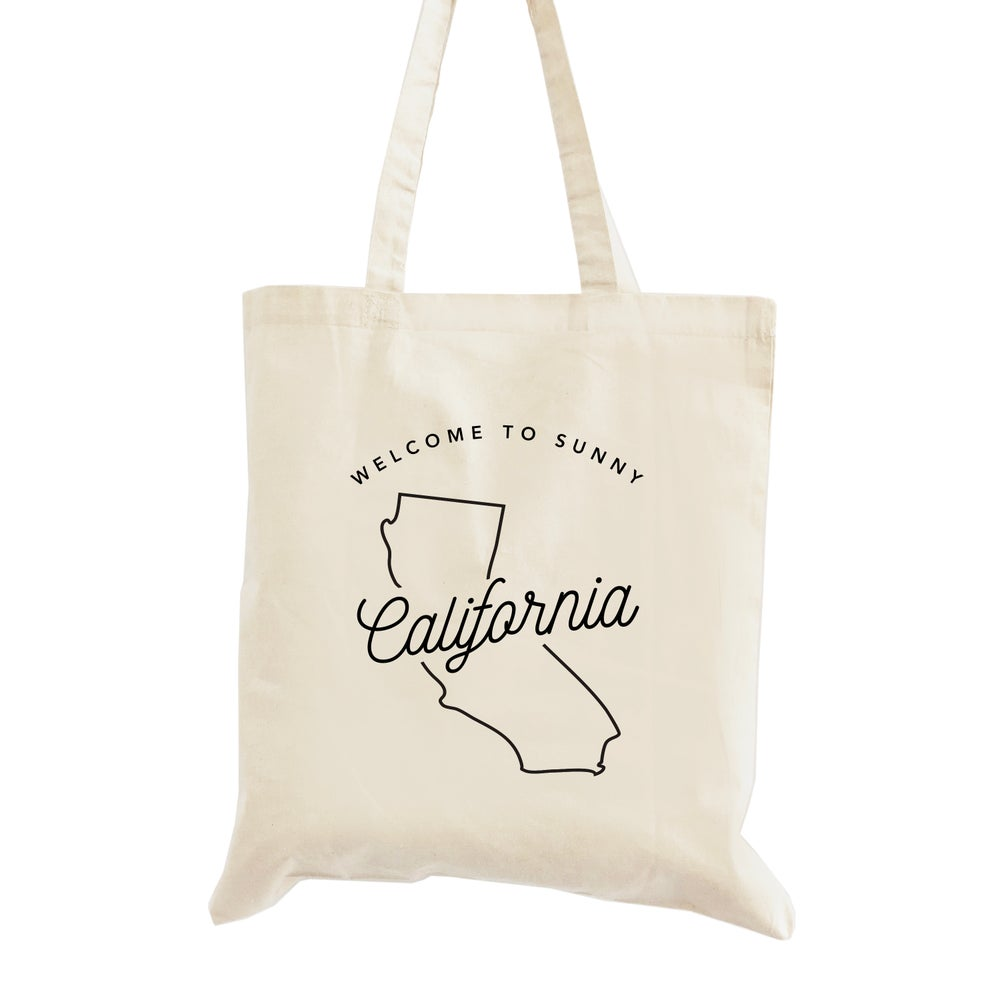 Image of Welcome to Sunny California Wedding Welcome Tote Bag