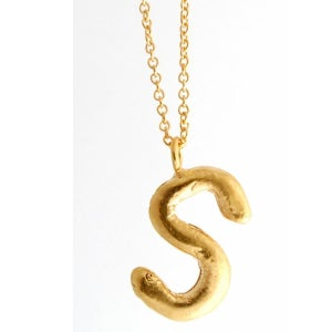 Image of Sterling silver or gold-plated Initial necklace A-Z
