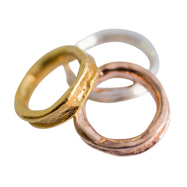 Image of Sterling silver or gold-plated Laura ring (A4)