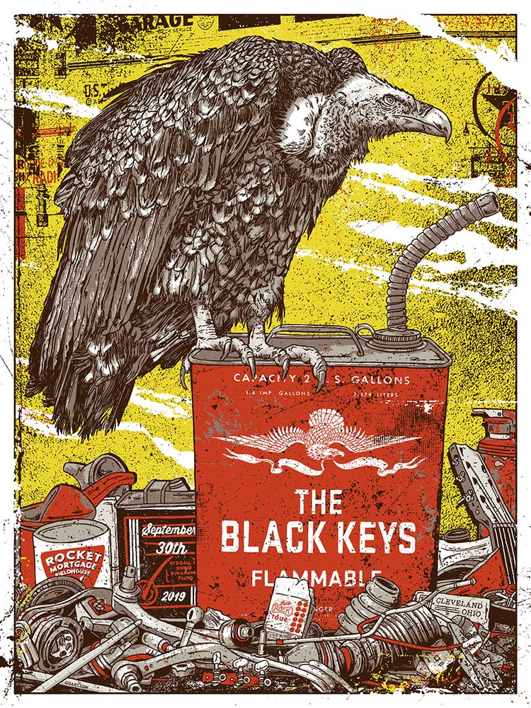 Image of The Black Keys 2019 Main Show Poster