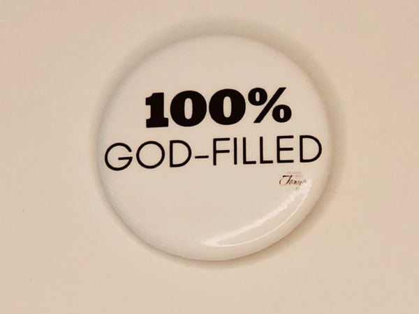 Image of Message Button: 100% God-Filled