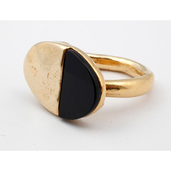 Image of Gold-plated silver stunning Luna ring (A8)