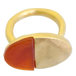 Image of Gold-plated silver stunning Luna ring