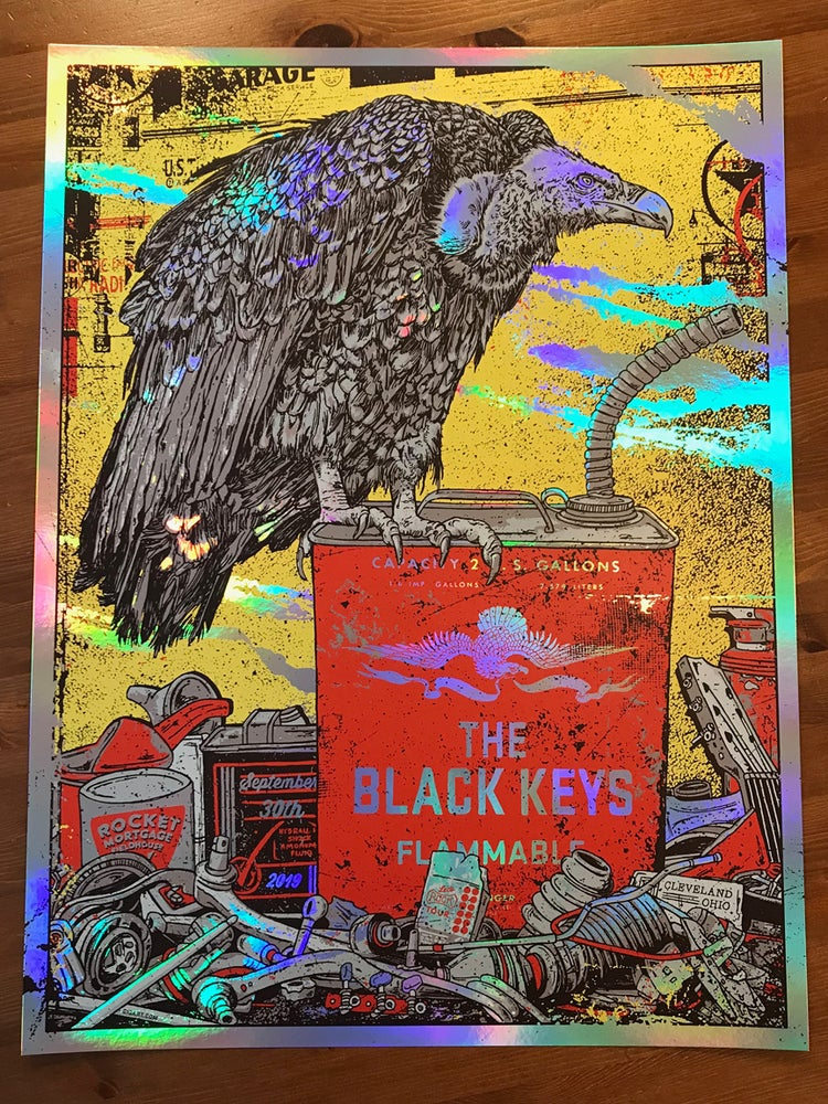 Image of The Black Keys 2019 Rainbow Foil Variant