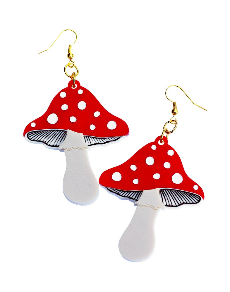 Image of Toadstool Earrings