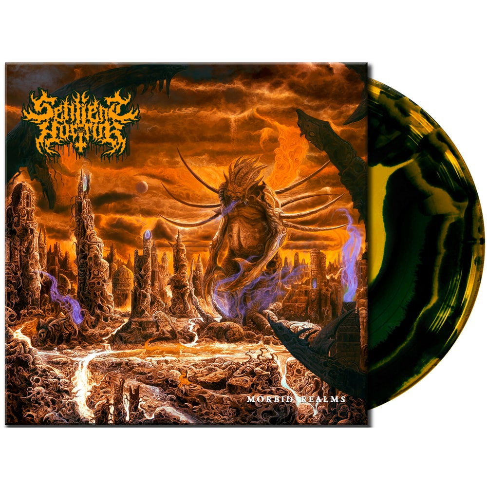 Image of Sentient Horror • Morbid Realms (Limited Yellow / Black Swirl Vinyl)