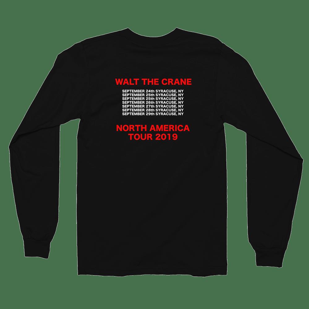 Image of WALT THE CRANE WORLD TOUR LONG SLEEVE SHIRT