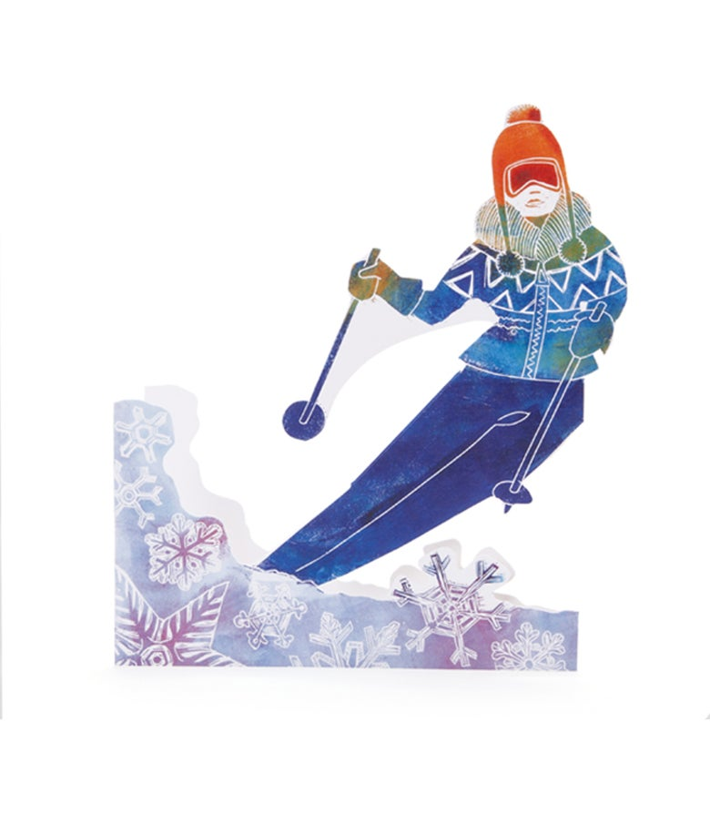 Image of Girl Skier 3D