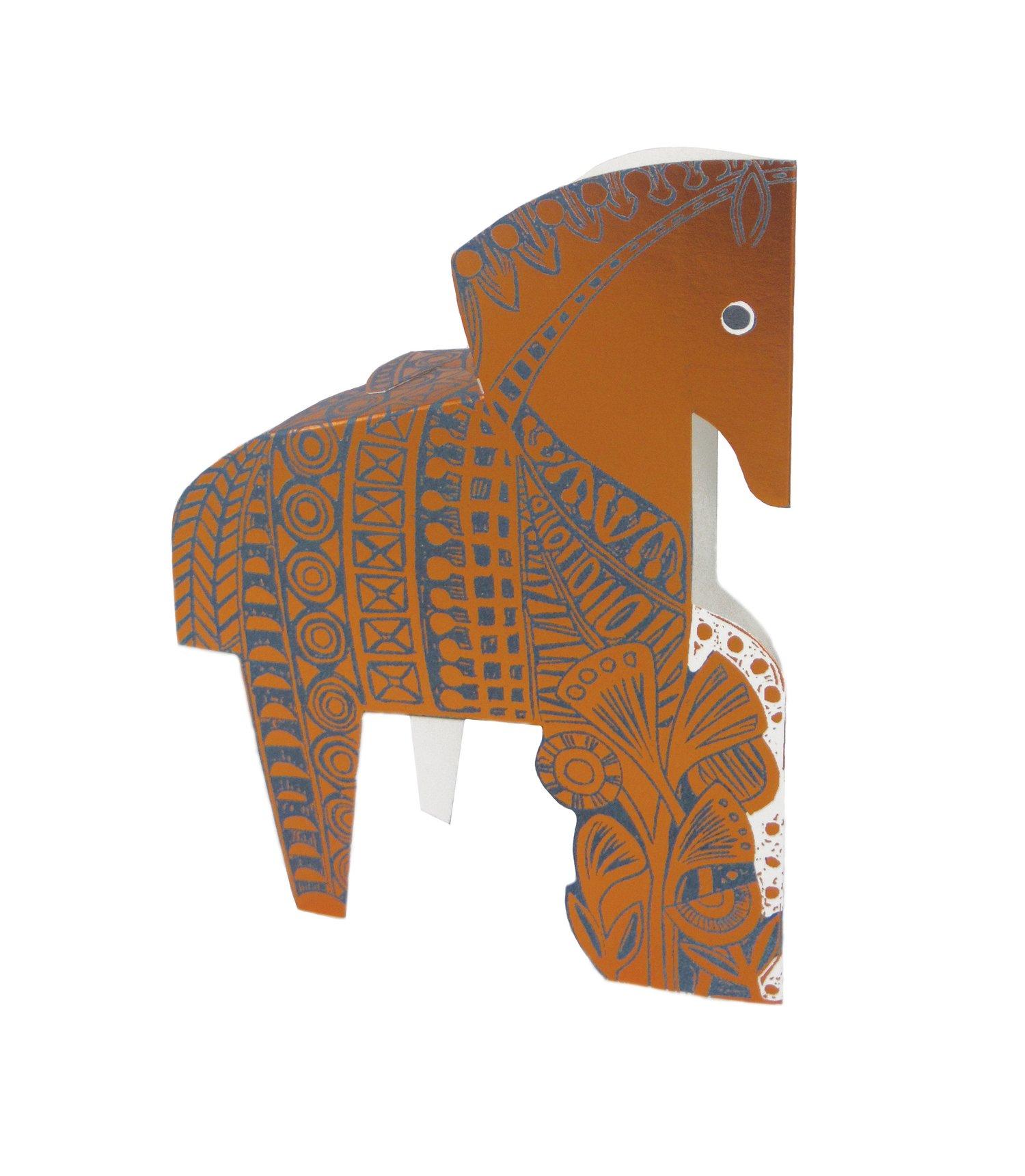Image of Copper Horse Foil 3D