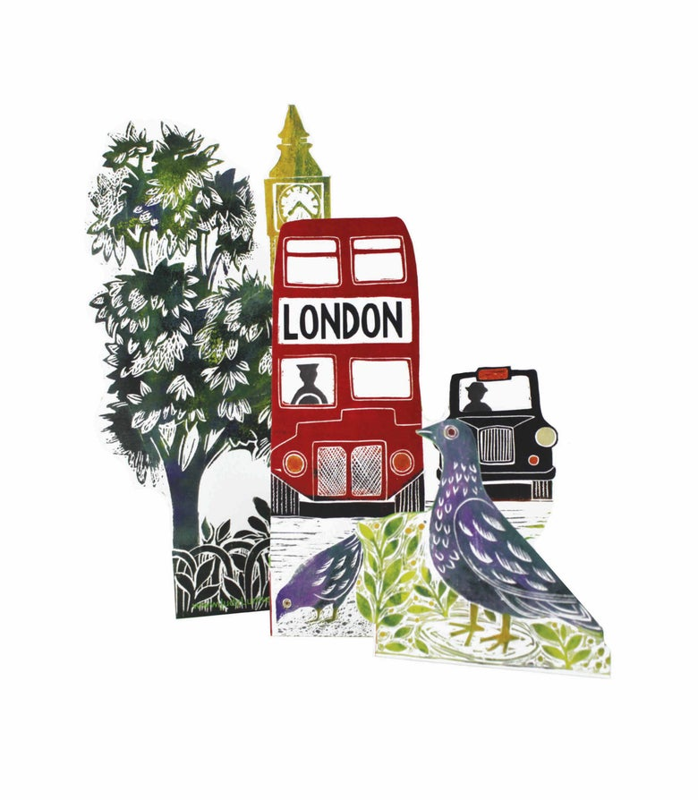 Image of London Bus Tri-fold