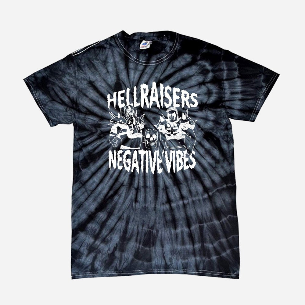 Image of Hellraisers Negative Vibes shirt