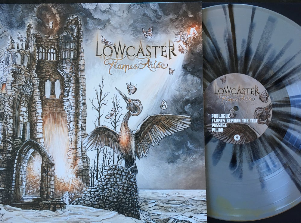 Image of Lowcaster - Flames Arise Limited Edition Splatter Vinyl LP