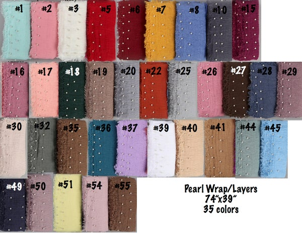 "Image of NEW RTS Pearl Cotton wraps/layers 74""X39"" 36 colors"