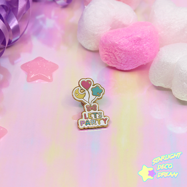 "Image of ""Let's Party"" Hard Enamel Pin"