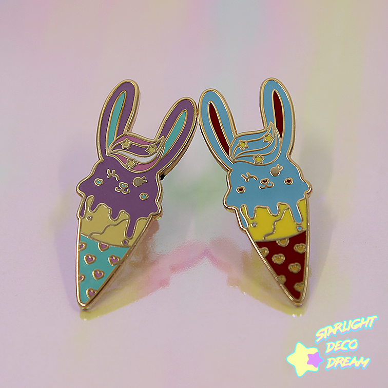 "Image of ""Bunny Crepe"" Hard Enamel Pin"