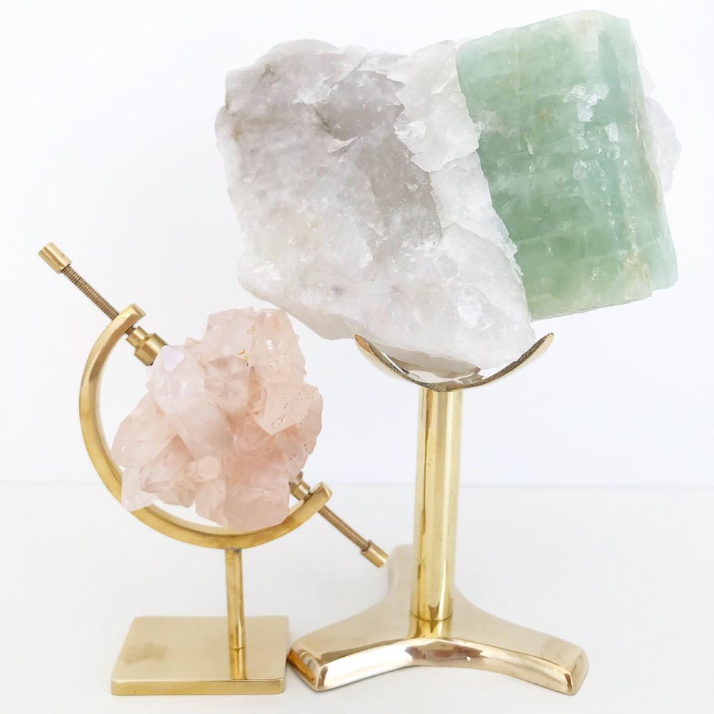 Image of Aquamarine no.95 + Brass Stand