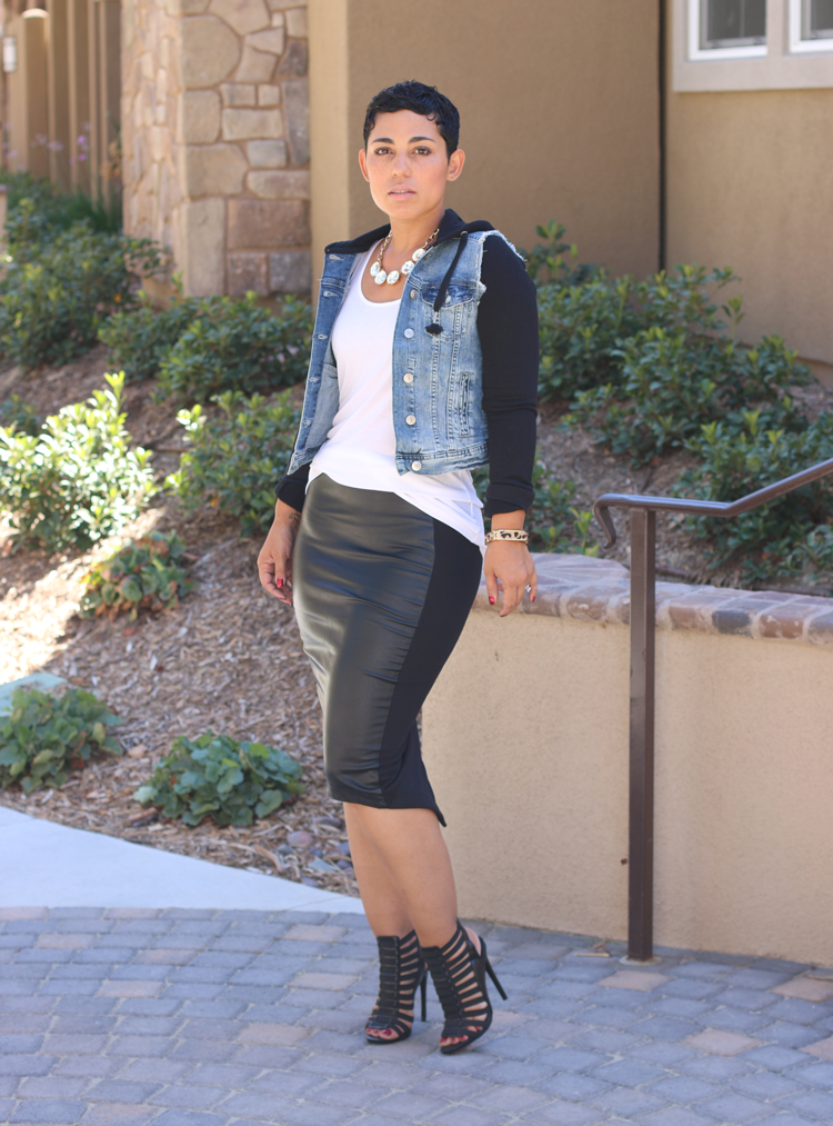 Image of LEATHER AND KNIT SKIRT VIDEO TUTORIAL