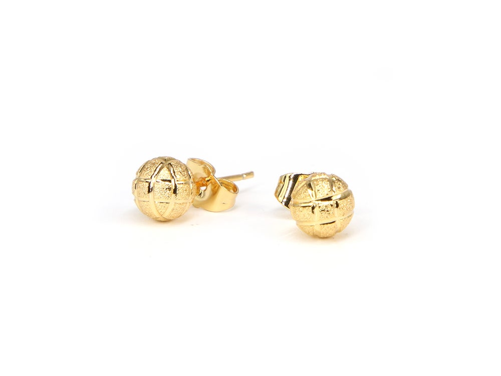 Image of Hoopin' Basketball Stud Earrings.