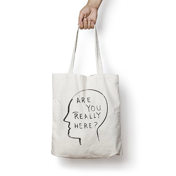 Image of ESCIF / ARE YOU REALLY HERE? tote bag