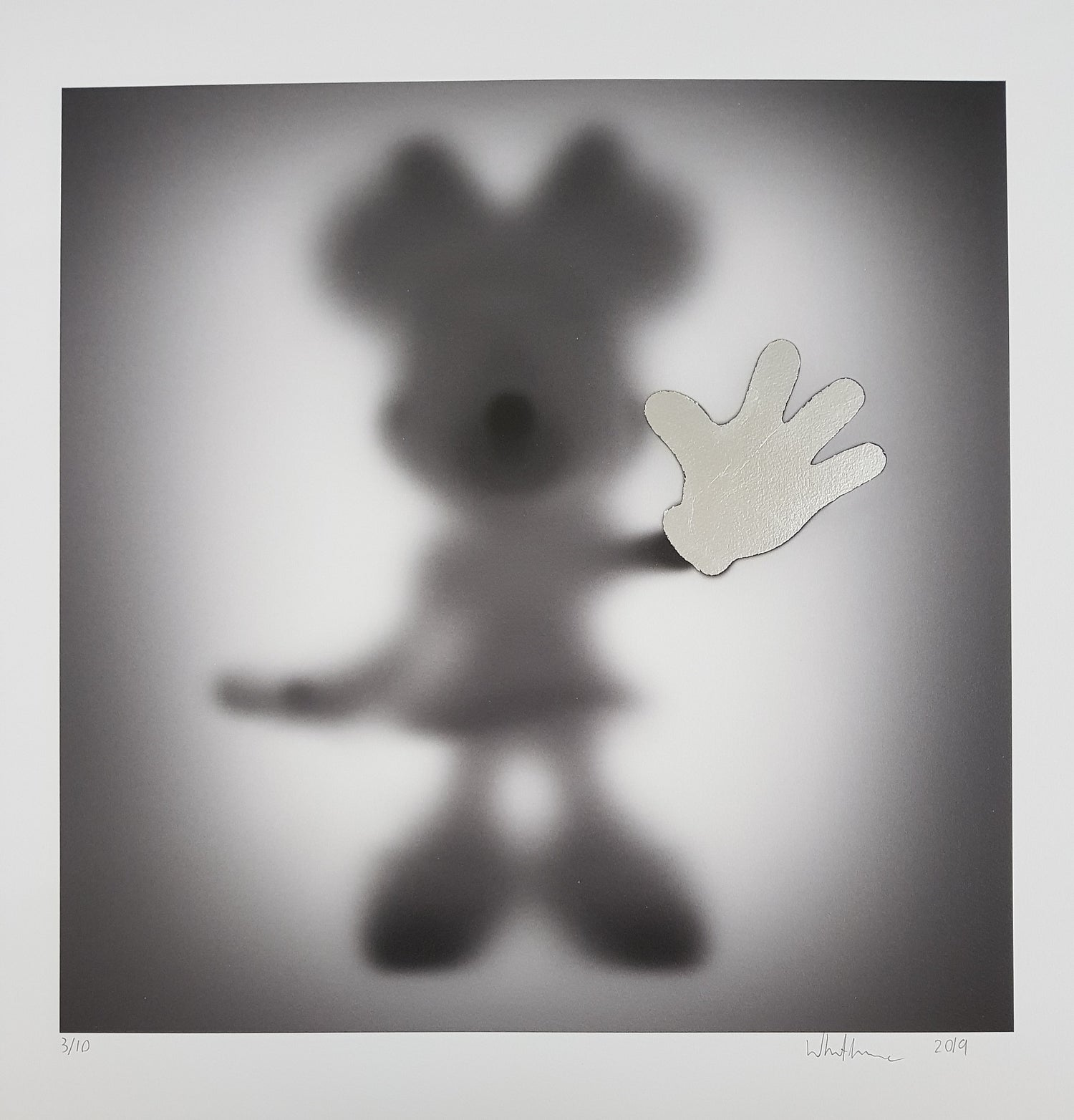 Image of GONE - MICKEY & MINNIE - HAND FINISHED WITH SILVER LEAF - LTD ED 10 - 60CM X 60CM