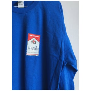 LONG SLEEVE T-DON´T SMOKE IN BED (BLUE/BLACK)