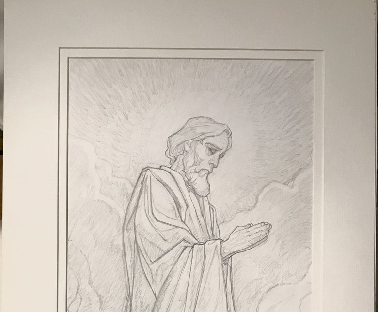 Image of Study for St Joseph for the Knock Mosaic