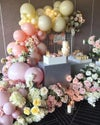 Small balloon garlands 5-6 feet flowers and stands extra