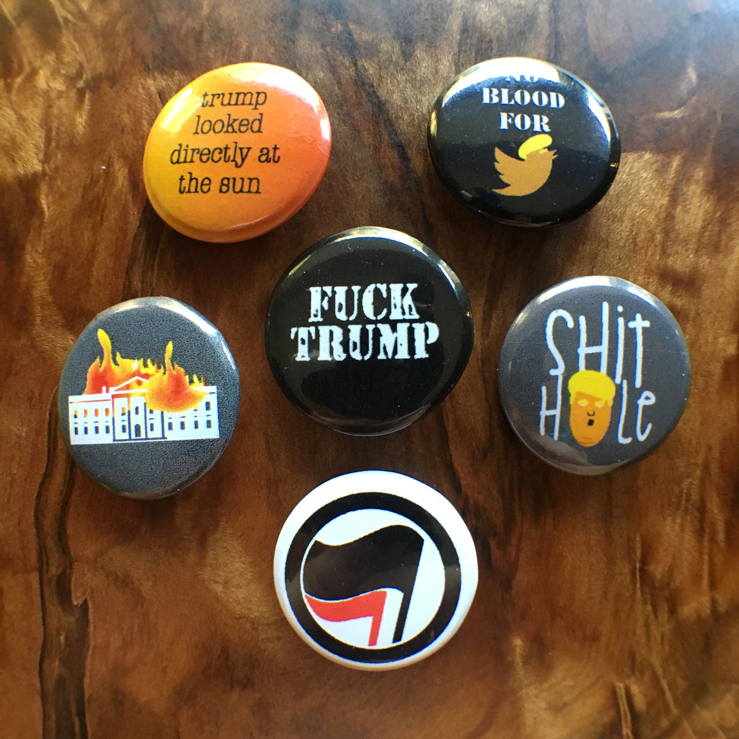 Image of Fuck Trump Pin Pack