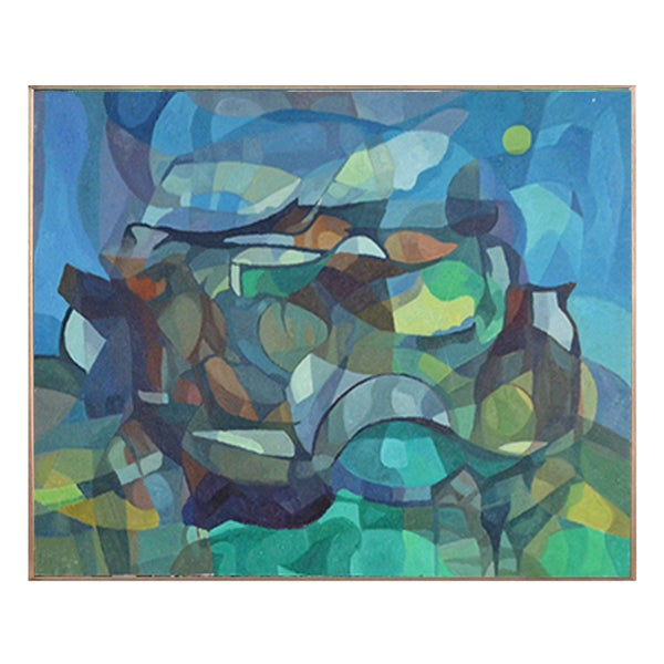 Image of Painting, 'Under the Moon,' Horas Kennedy (1917-1997)