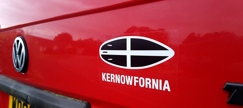 Image of Car/Van Sticker - St Piran Surfboard