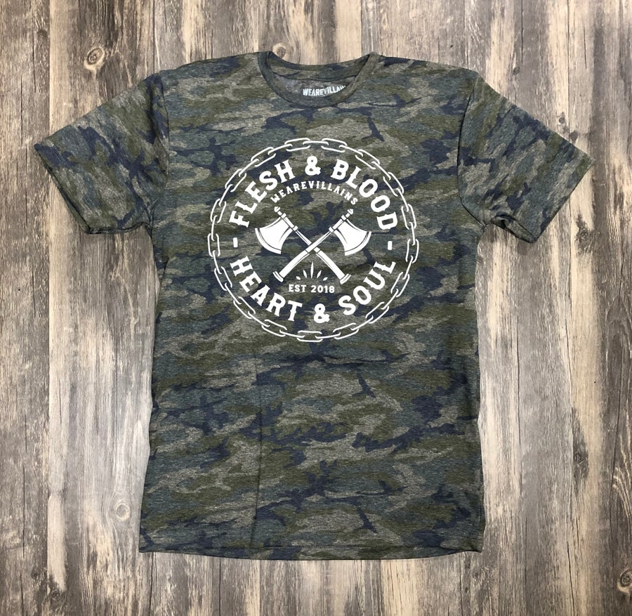 Image of Flesh and Blood/Heart and Soul Camo tee