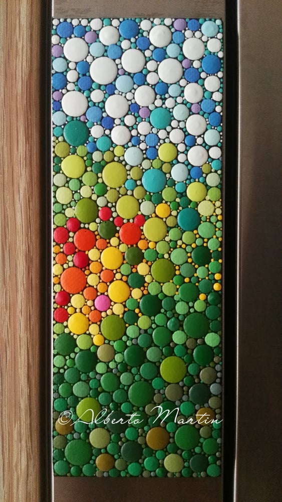 Image of Magnetic dotart canvas fridge magnet 11 by Alberto Martín