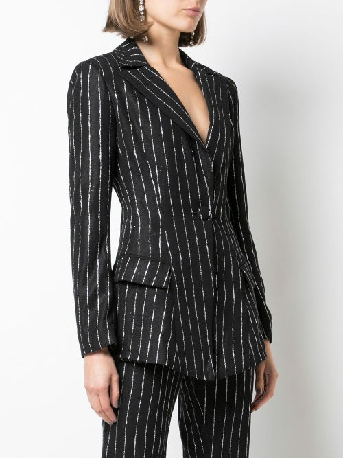Image of Striped Tailored Blazer