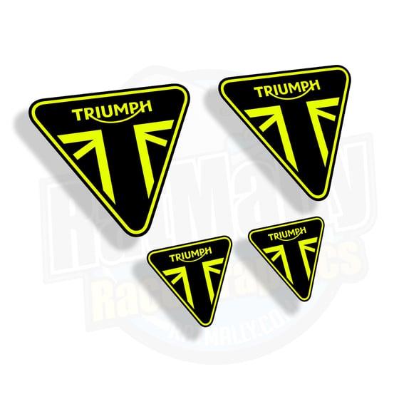 Image of Moto2 style Triumph Neon Stickers.