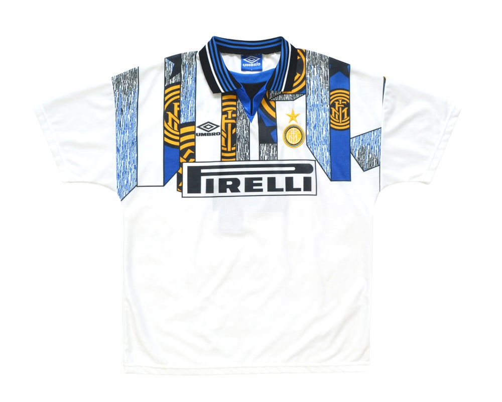 Image of 1995-96 Umbro Inter Milan Third Shirt 'Zanetti 4' L