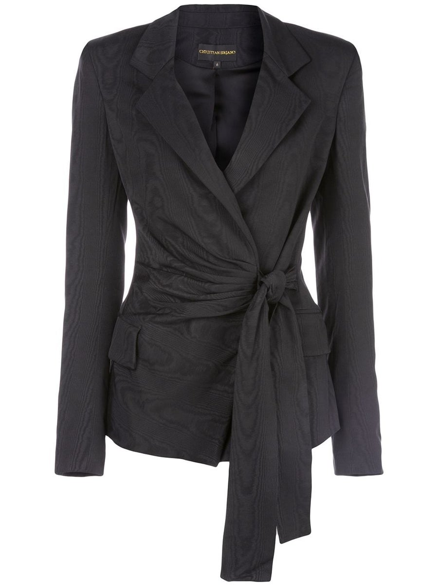 Image of Wrap Front Blazer