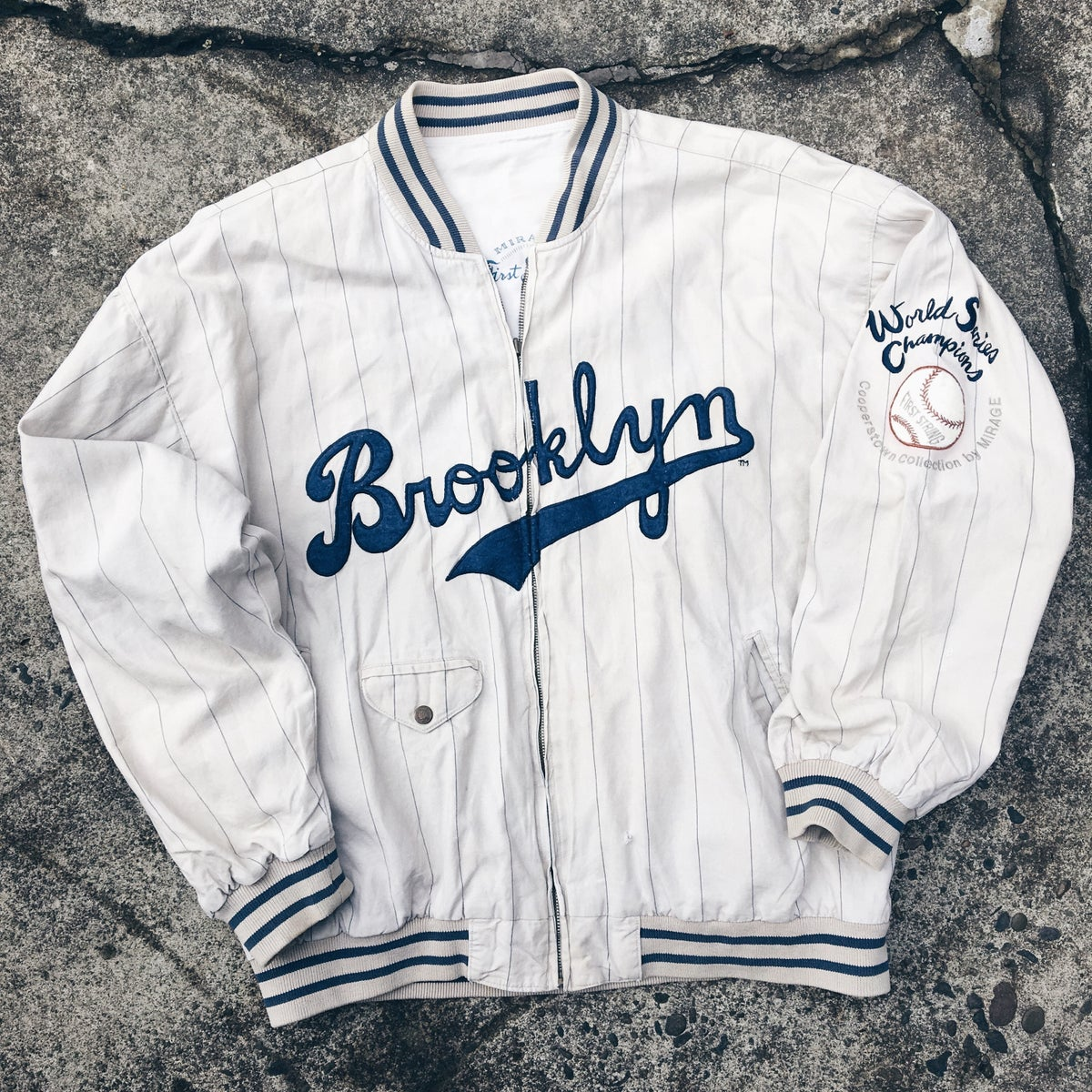 Image of Original 90's Mirage Sports Brooklyn Dodgers Jacket.