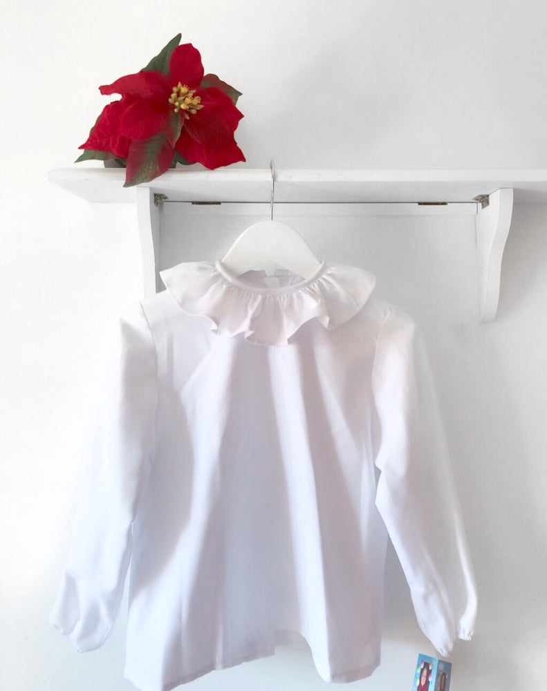 Image of Frilly collar blouse