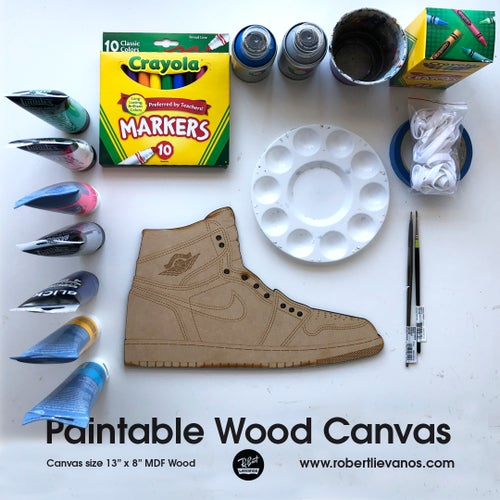 Image of Paintable Wood Canvas