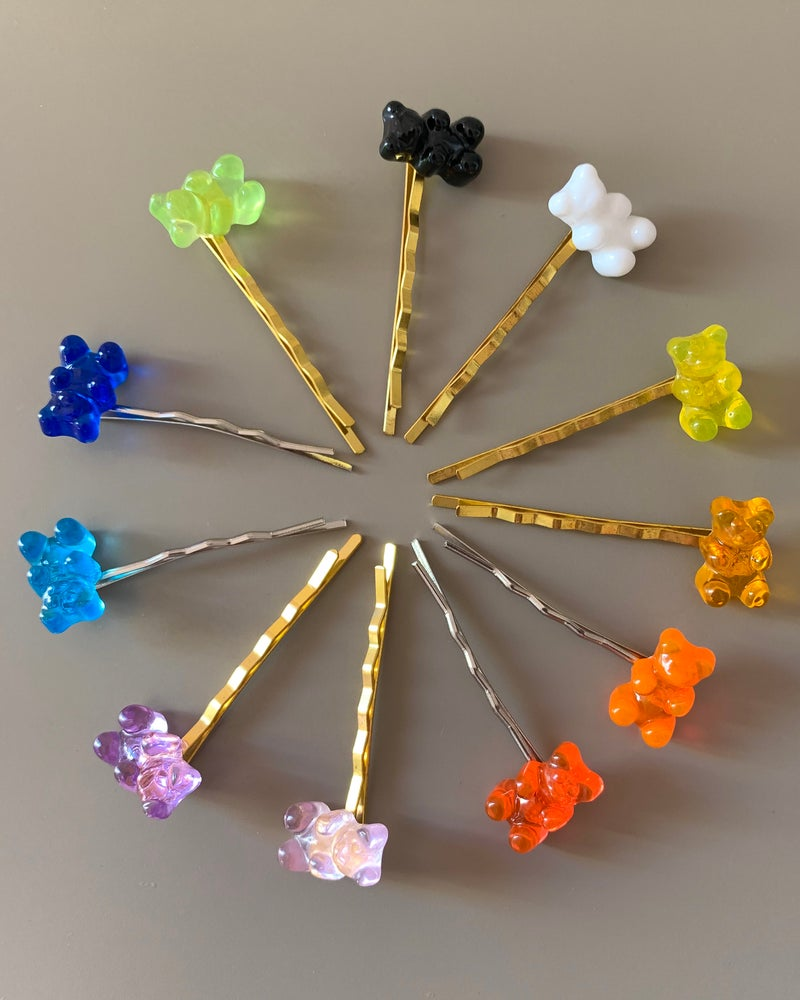 Image of GUMMY BEAR HAIR CLIPS
